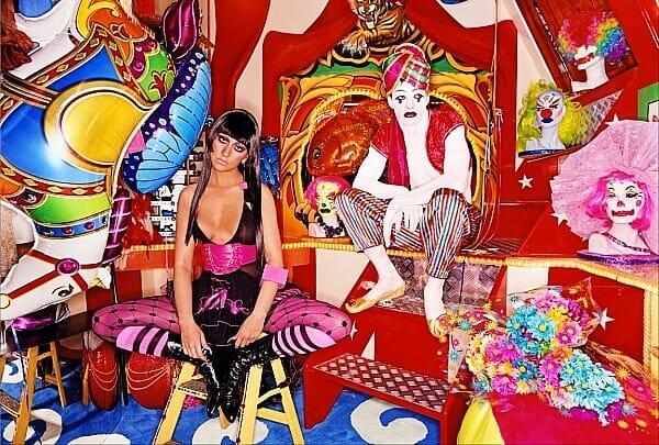David LaChapelle Christina Aguilera Sad Clowns Vogue Italia