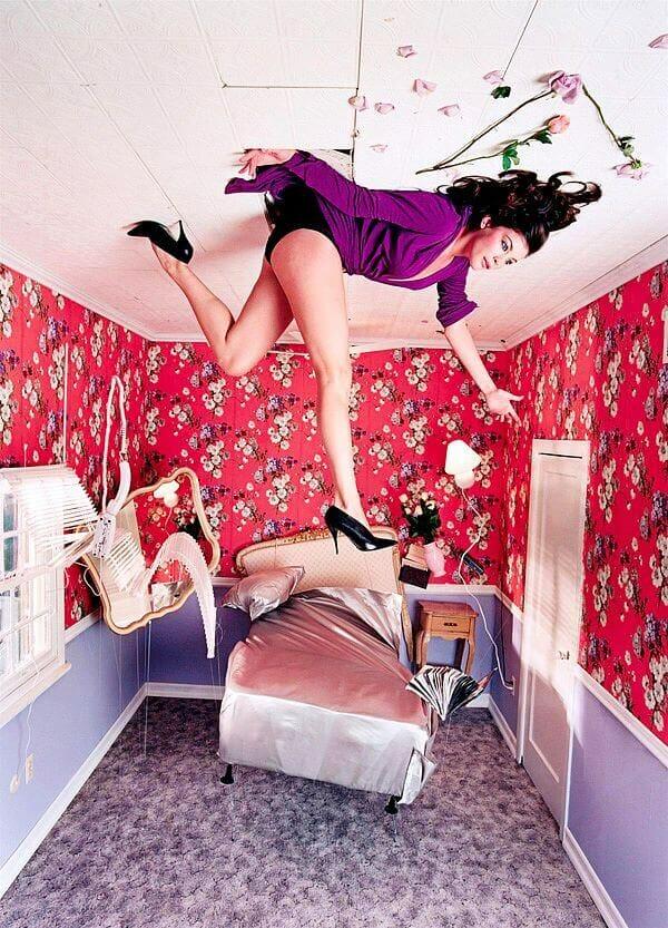 David LaChapelle Liv Tyler Furniture Bed Flowers Heels Flaunt Magazine