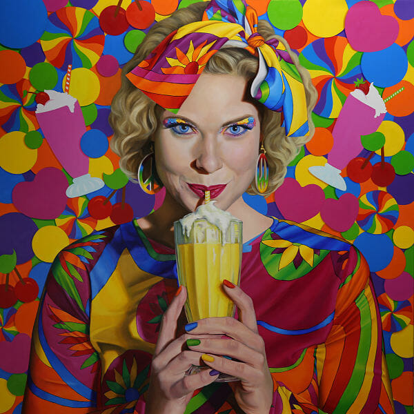 milkshake painting
