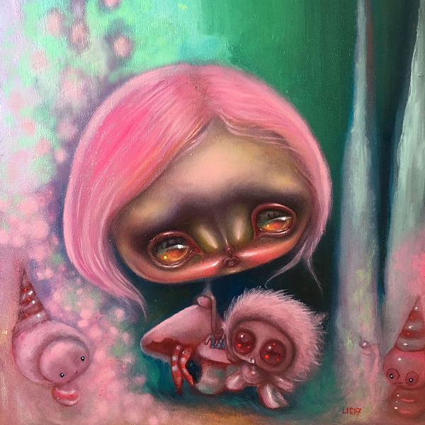 Opal Unicorn pink alienbots in a candyland