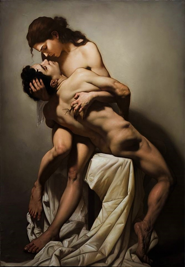 Roberto Ferri romanticism love couple nude art