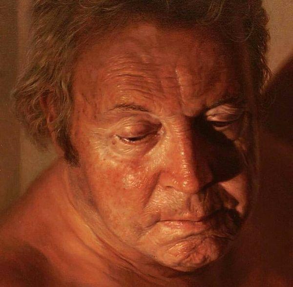 Robin Eley photorealistic portrait man face