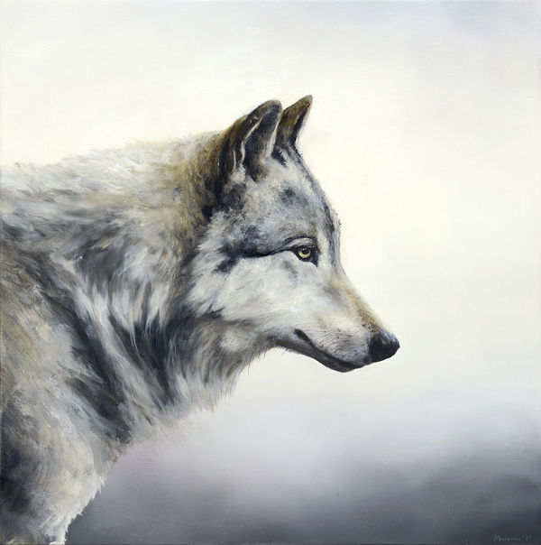 "Brian Mashburn, ""Blue Norther"", wolf art"