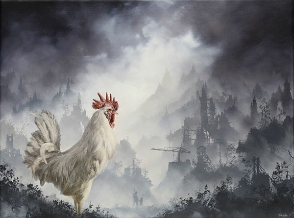 "Brian Mashburn, ""Leghorn"", rooster painting"