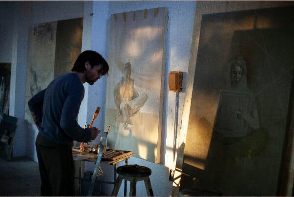 Daan Noppen studio painting