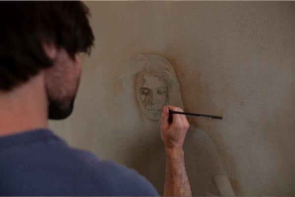 Daan Noppen work in progress painting
