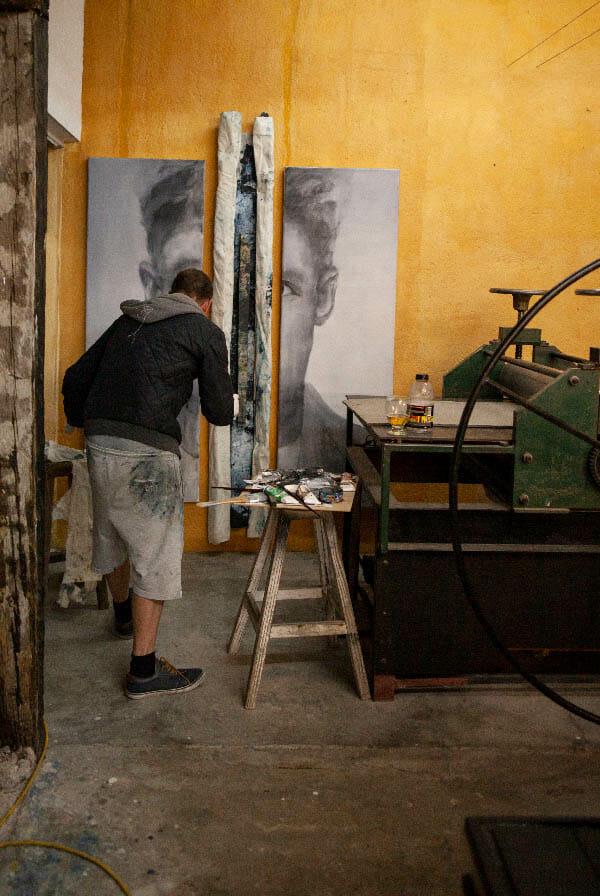 Daniel Martin painting progress