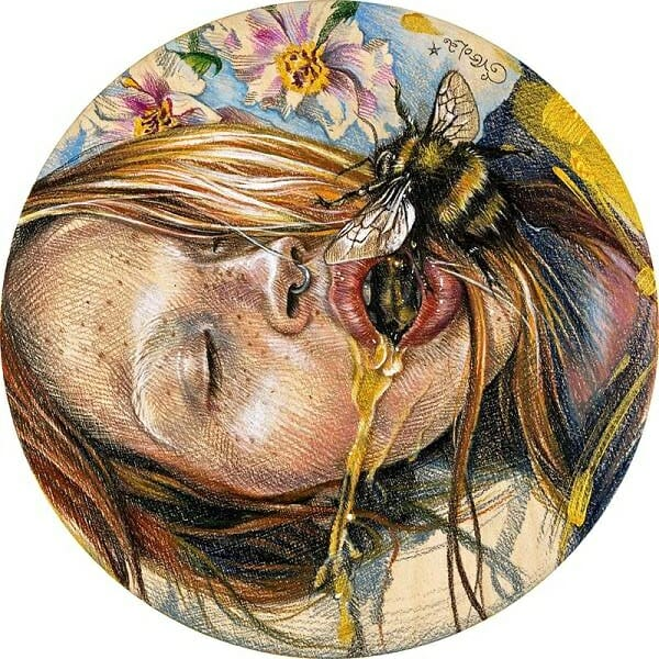 honey bee painting
