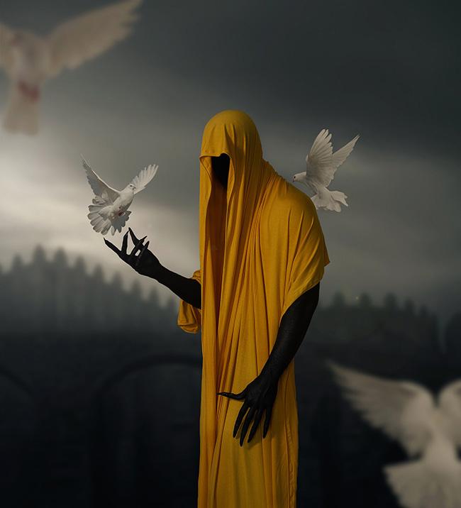 Kavan the Kid dark surreal cloaked figure photography