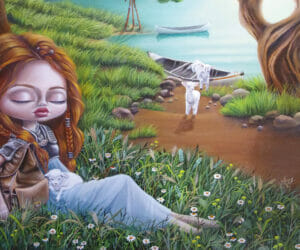 australian artist marie larkin pop surrealism painting