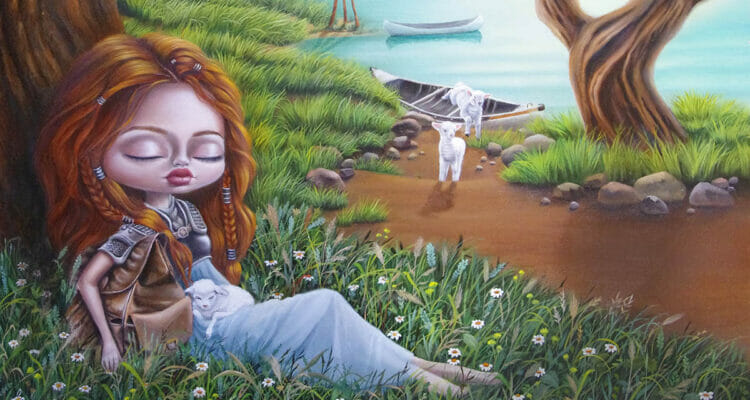 australian artist marie larkin pop surrealism painting