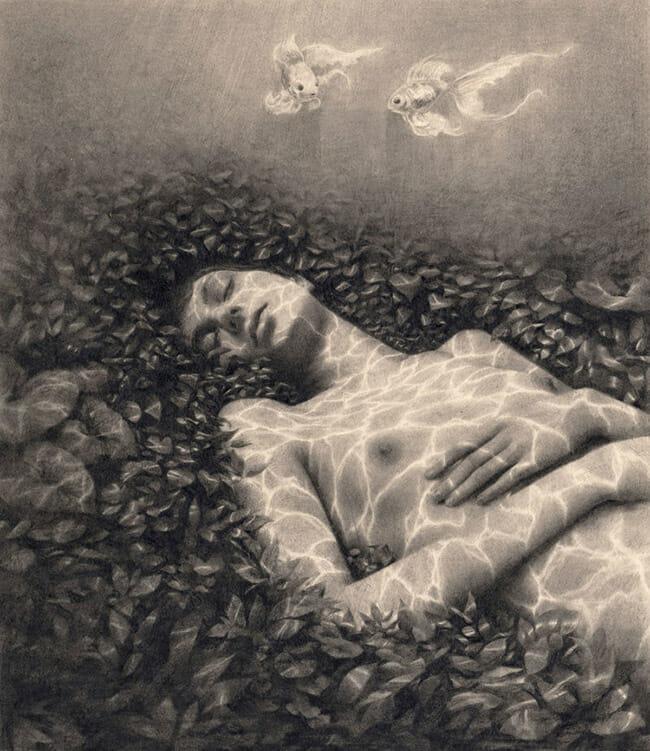 Miles Johnston surreal nude artwork