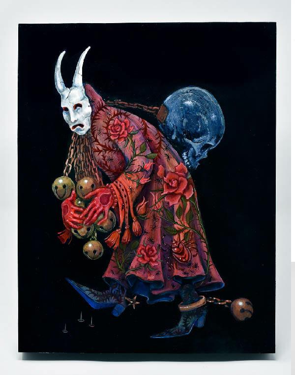 Morgaine Faye skull demon cloak