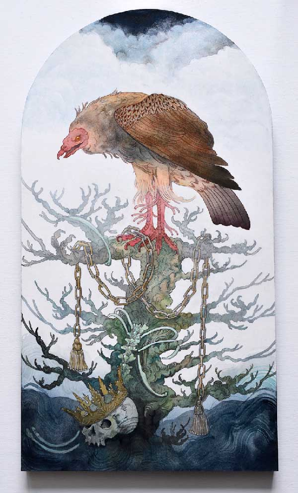 Morgaine Faye vulture painting