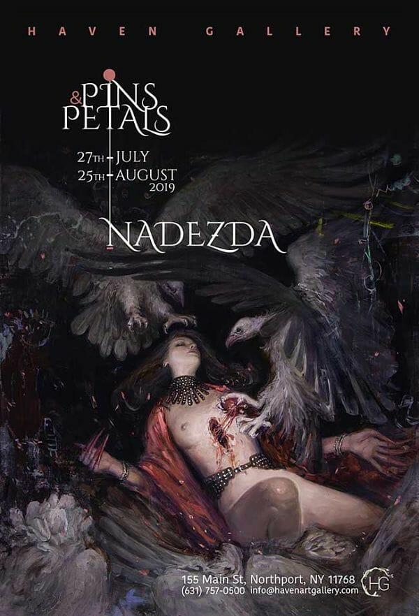 Nadezda Pins & Petals solo exhibition at Haven Gallery