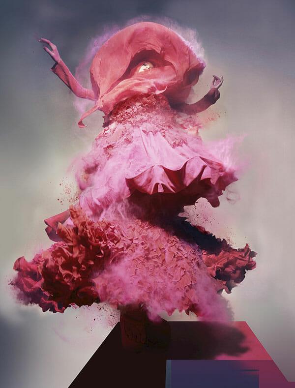 Nick Knight Lily Donaldson pink dress