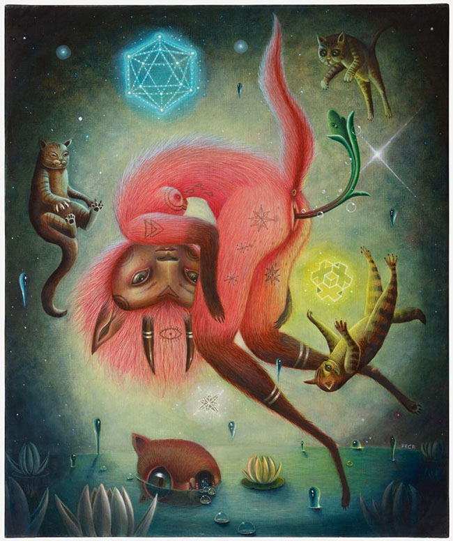 Peca pop surreal fantasy animal painting - How Did You Overcome Expectations to Create Work in Your Unique Style?