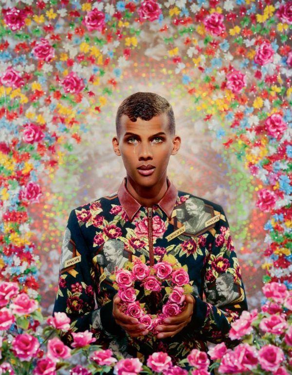 Pierre et Gilles Floral Portrait Belgian Musician Stromae