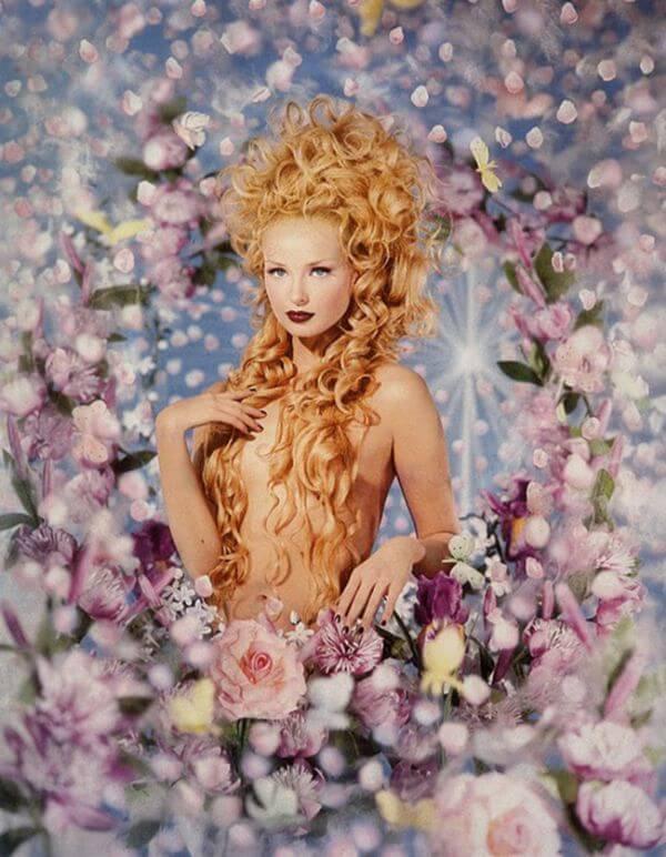 Pierre et Gilles Nude Blonde Woman Portrait