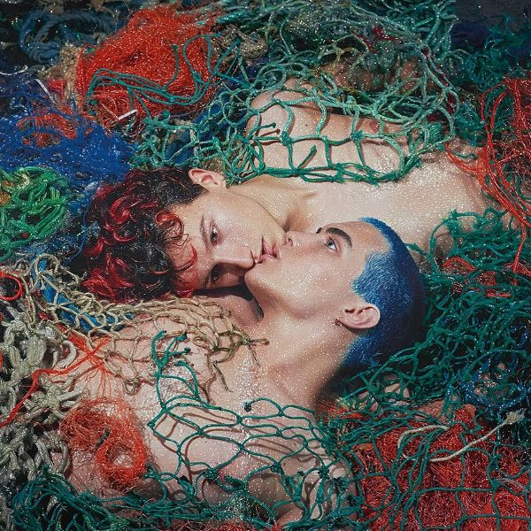 Pierre et Gilles Portrait Male Couple Tangled In Fishing Net
