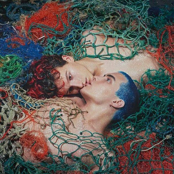 Pierre et Gilles Portrait Male Couple Tangled In Fishing Net