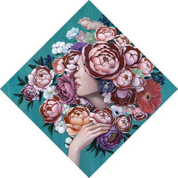 Stella Im Hultberg floral woman painting