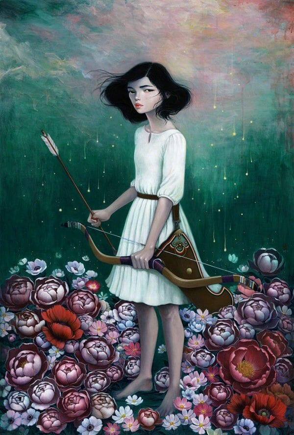 Stella Im Hultberg floral archer painting