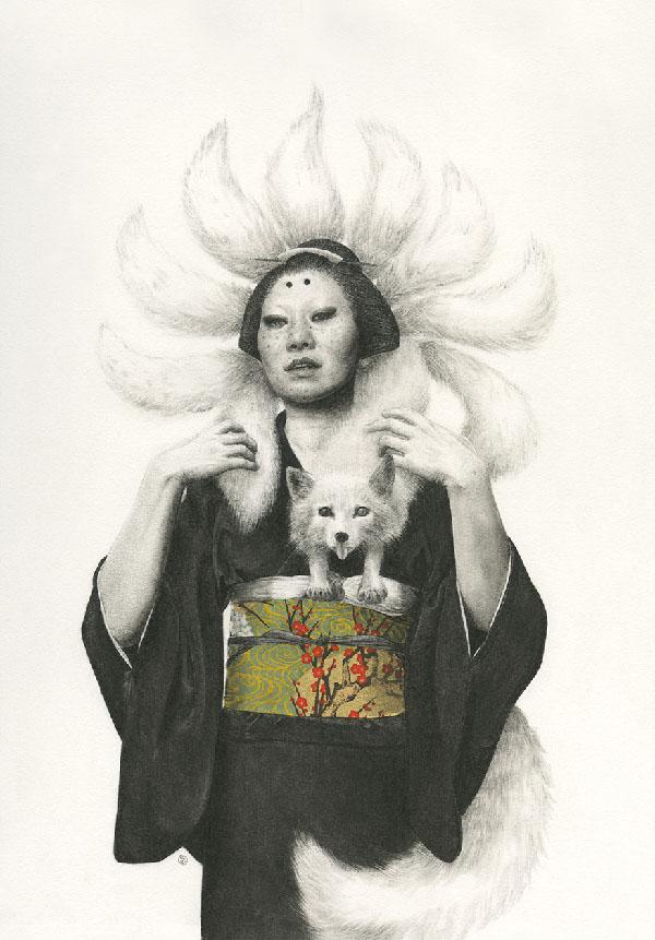 Stephanie Inagaki nine tail fox kimono