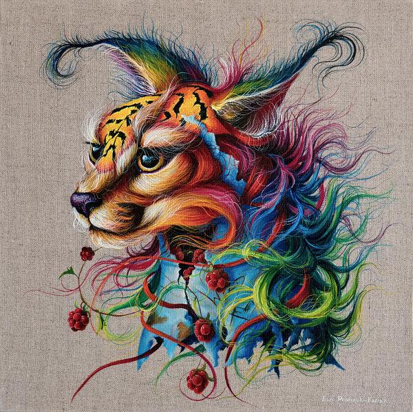surreal animal portrait