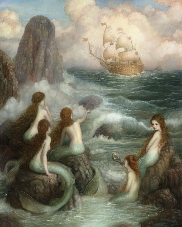 Annie Stegg Gerard painting - The Five Sisters