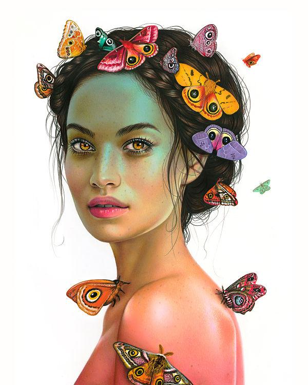 Morgan Davidson realistic drawing -
