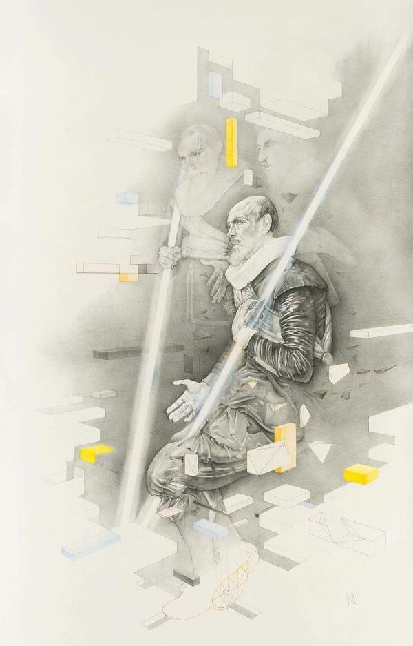 Daan Noppen geometric portrait art