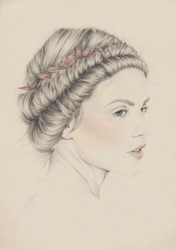 emma leonard blushing girl drawing