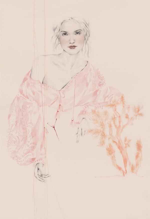 Emma Leonard - girl with pink shirt painting