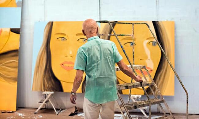 Alex Katz new contemporary vibrant paintings