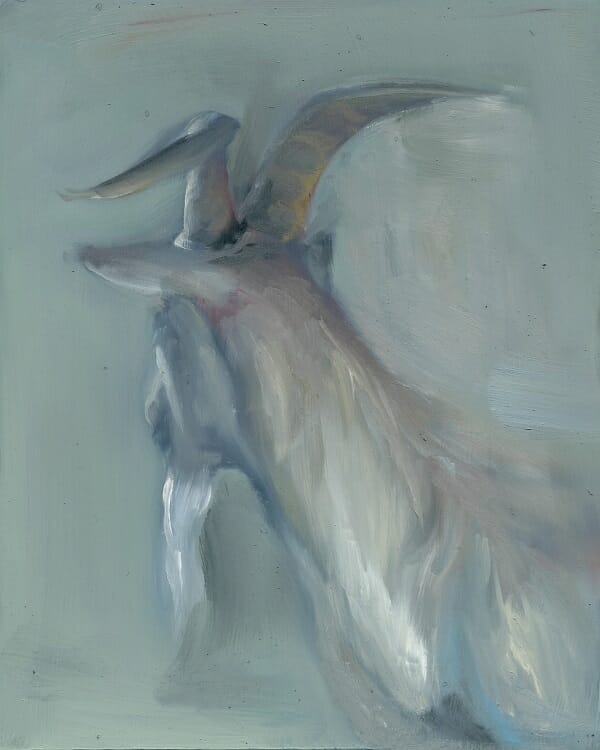 Ana Sanchez white goat painting