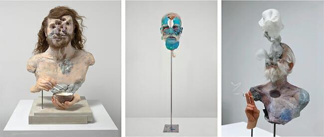 David Altmejd surreal portrait and figure sculptures