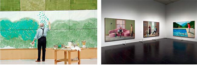 David Hockney surreal artwork