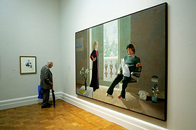 David Hockney artwork in museum