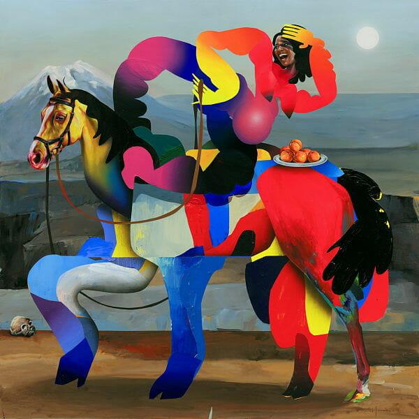 Erik Jones Country exhibition Zora abstract painting