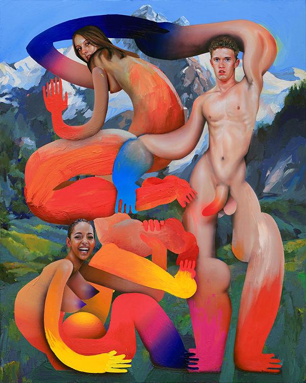 Erik Jones abstract nude painting