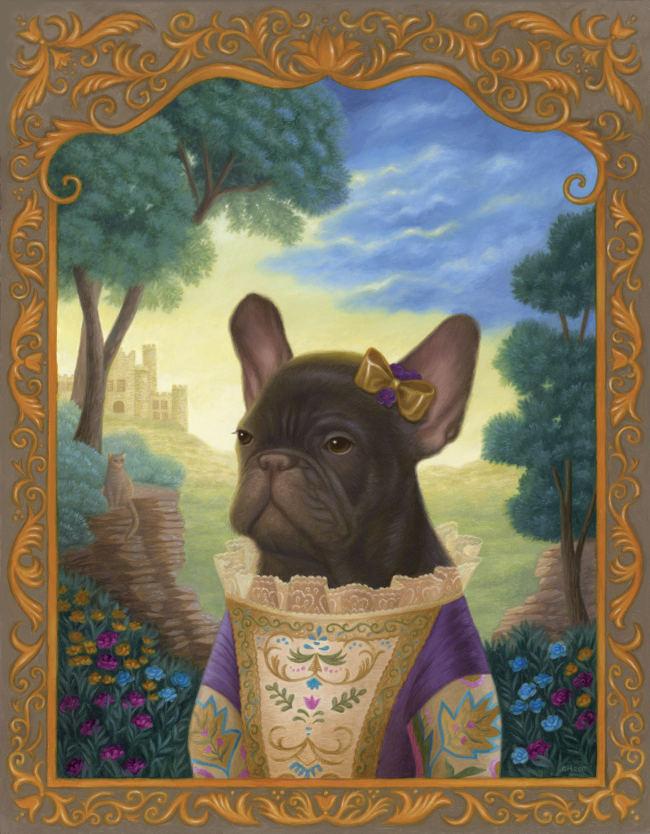 Gina Matarazzo pug portrait painting