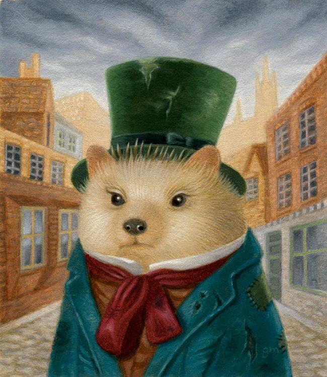Gina Matarazzo Smythe hedgehog painting