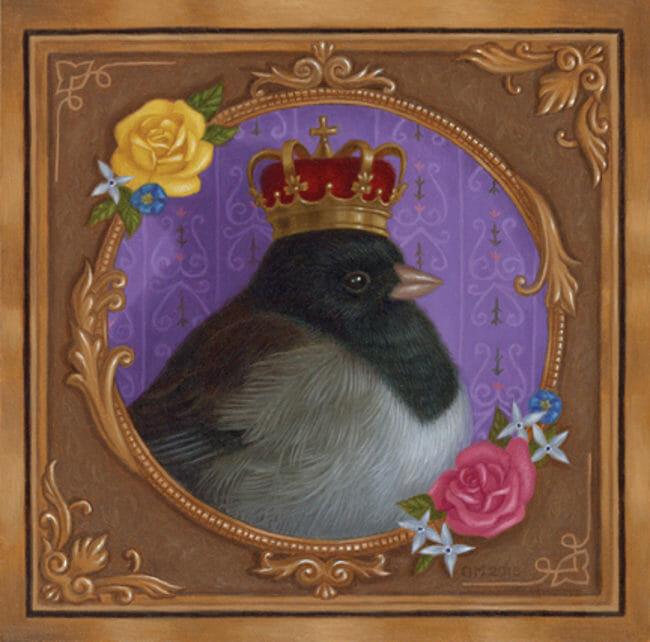 Gina Matarazzo king bird painting