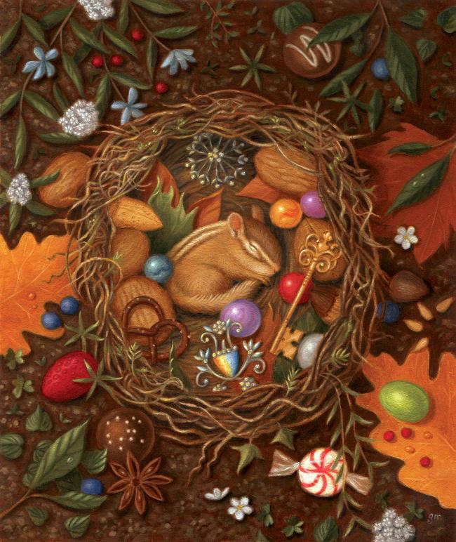 Gina Matarazzo sleeping nest painting
