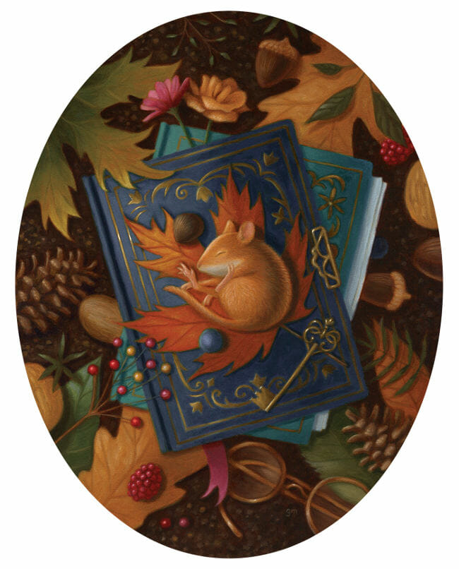 Gina Matarazzo sleeping mouse painting