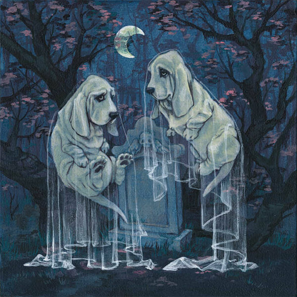 Jenny Fontana the mourners dog familiars painting