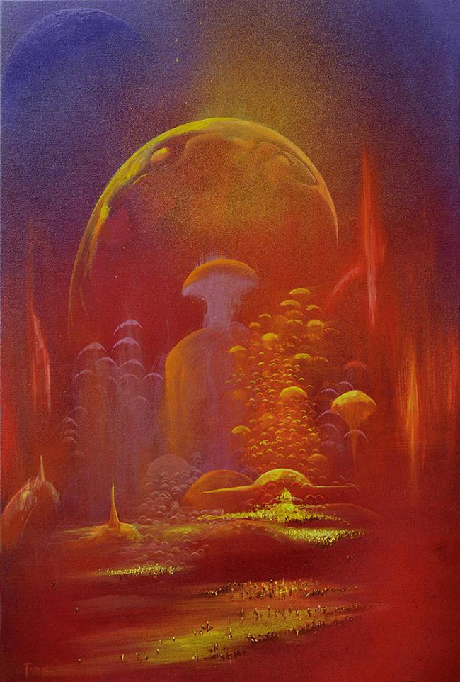 Jody Fallon landscape sci fi painting