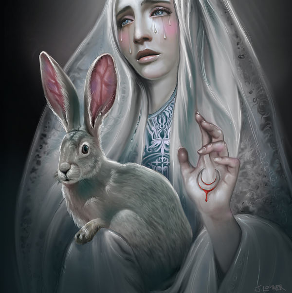 Juliana Loomer bunny digital painting