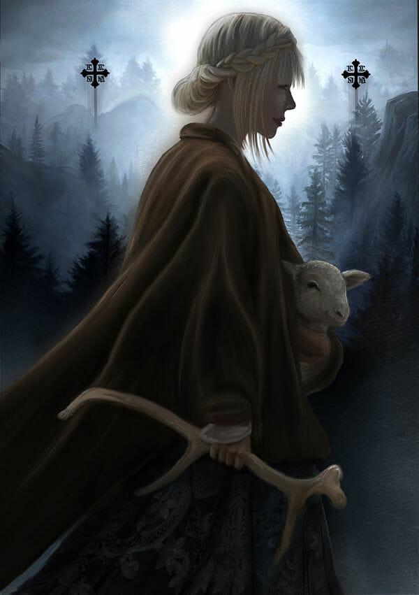 Juliana Loomer moon shepard digital painting